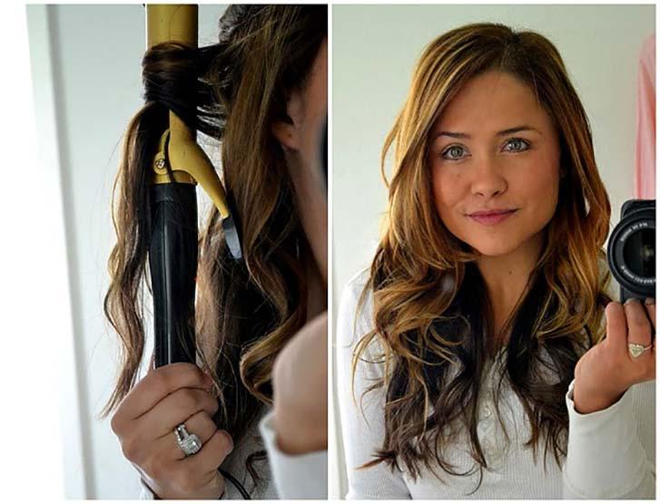 Как сделать чтобы кудри держались на длинных волосах 881